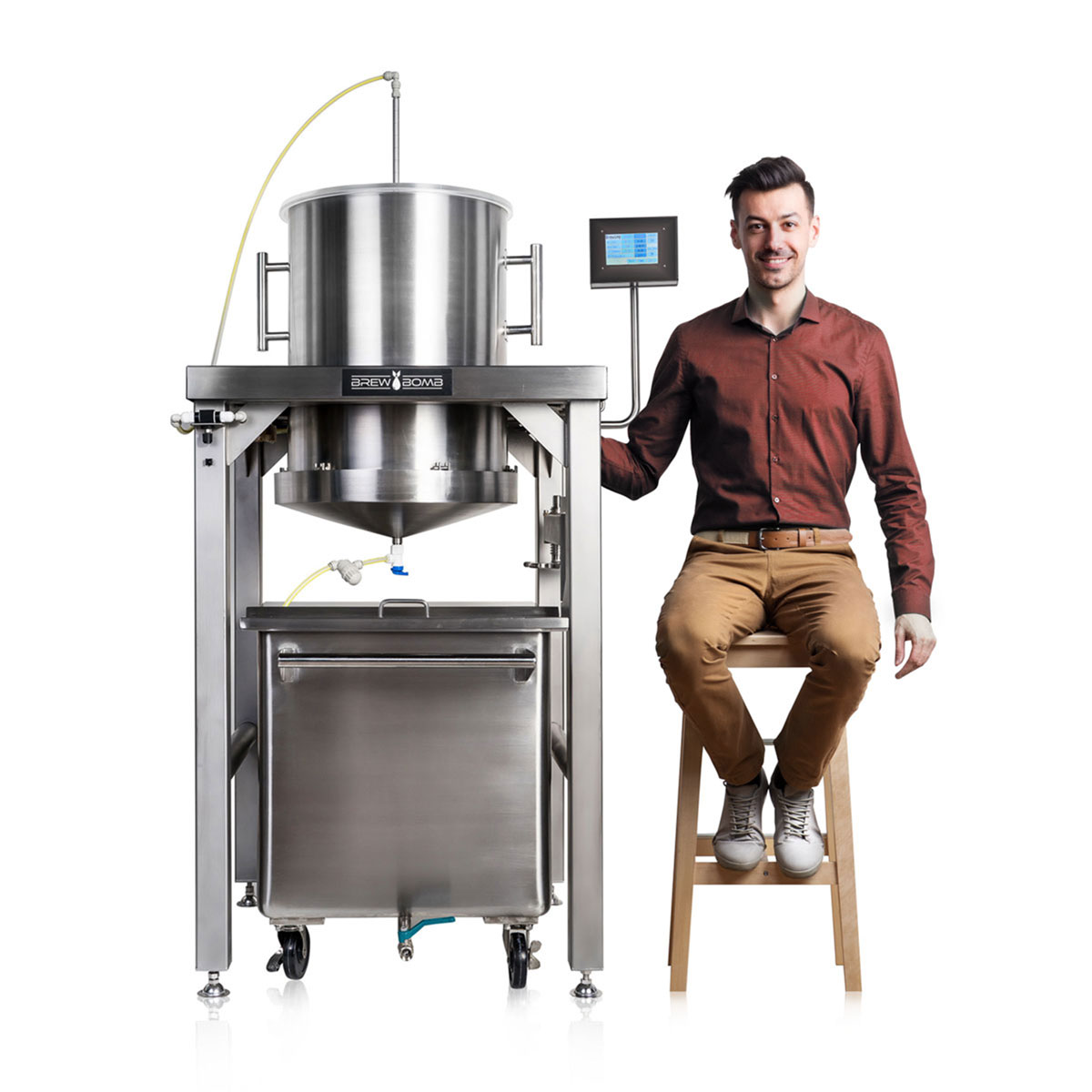 Brew Bomb X-60, a commercial large-batch cold brew coffee equipment.